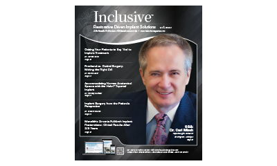 Inclusive Magazine Cover with Dr. Carl Misch